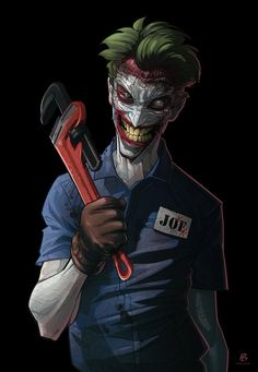 Joker by Patrick Brown. Death Of The Family joker! After he has his face sliced off by Dollmaker. Personally my favourite twisted joker Joker Batman, Joker Comic, Der Joker, Joker Art, Joker And Harley Quinn, Joker Pics, Joker Death, Joker Images, Black Batman