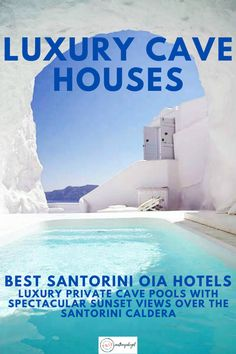 The best hotels in Oia Santorini are traditional cave hotels remade with luxury, minimalist decor, great technology, private cave pools & sunset views. Best Hotels In Santorini, Hotels In Santorini Greece, Greece Cruise, Santorini Caldera, Greece Honeymoon, Greece Trip, Santorini Travel, Honeymoon Hotels, Viajes