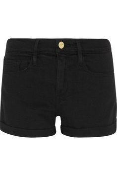 FRAME - Le Cutoff Denim Shorts - Black - 31
