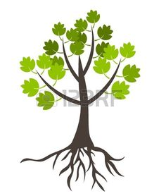 Illustration of Tree with roots - vector illustration vector art, clipart and stock vectors. Vector Trees, Vector Art, Vector Stock, Earth Day, Bing Images, Roots, Royalty Free Stock Photos, Clip Art, Creative