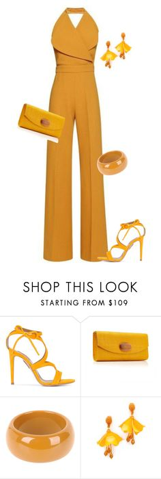 """outfit 6881"" by natalyag ❤ liked on Polyvore featuring Aquazzura, Dsquared2 and Oscar de la Renta"