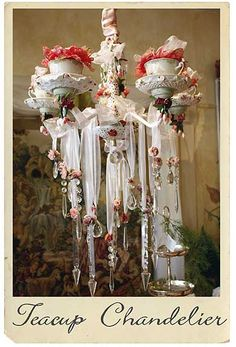 So OTT it could only be for High Tea sensationalism - a tea cup chandelier