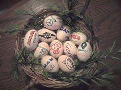 Easter truck eggs :)  #easter #trucks