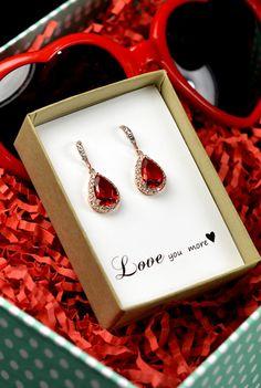 Valentines  gifts Wedding Jewelry by thefabbridaljewelry on Etsy