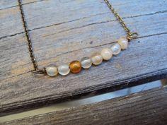 simple necklace BRASS JEWELRY modern bar necklace by IvysBoutique, $17.00