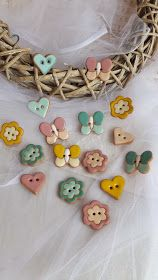 Sewing Projects, Projects To Try, Clay Birds, Raku Pottery, Button Art, Pottery Painting, Clay Art, Wedding Favors, Polymer Clay