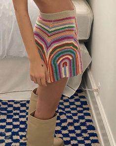 Crochet Clothes, Diy Clothes, Cute Crochet, Knit Crochet, Crotchet, Crochet Crop Top, Crochet Designs, Crochet Patterns, Mode Glamour