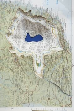 cartography odd map of a lake outside of Rio De J......is it real or artsy? 3333