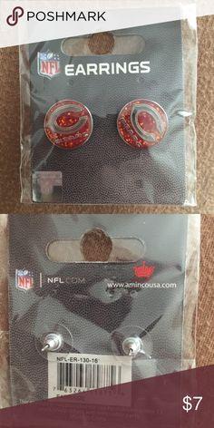 Chicago Bears earrings Nfl Chicago Bears earrings Jewelry Earrings