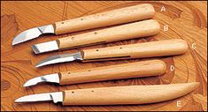 German Chip Carving Knives - Woodworking