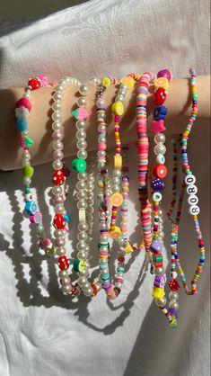 Funky Jewelry, Trendy Jewelry, Cute Jewelry, Diy Jewelry, Jewelery, Jewelry Accessories, Jewelry Making, Bead Jewellery, Beaded Jewelry