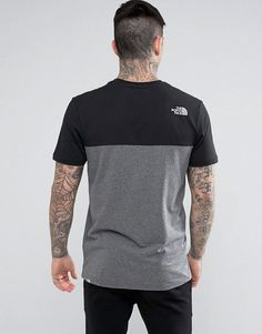 The North Face Westpeak T-Shirt Color Block and Chest Logo in Black -