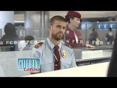 Gerard Pique Becomes a Customs Officer - YouTube