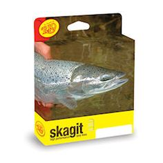 Key to spey casting is what's called a Skagit, which is a line that has a thick heavy part near the front so you can cast it really far.