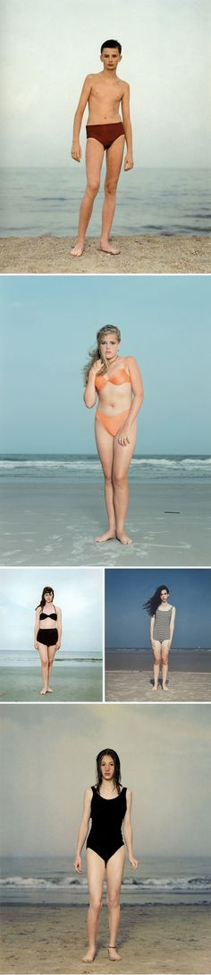 Seeing her 2012 collection at the MoMa SF was breath taking  large-scale beach portraits of Dutch artist Rineke Dijkstra.