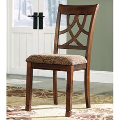 Signature Design by Ashley 'Leahlyn' Brown Cherry Upholstered Dining Chair (Set of 2) - Overstock™ Shopping - Great Deals on Signature Design by Ashley Dining Chairs