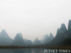 Karst Mountains along Li River in Guilin, China.  #china #chinatravel #travelphotography #asia #asiatravel #traveldestinations