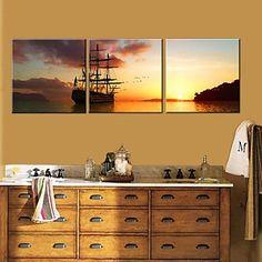Τεντωμένο Canvas Art Τοπίο Set Sail Σετ από 3 – EUR € 69.99