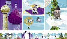 illustration for kids, fairy tales, adobe photoshop, knight's castle, heeresgeschichtliches museum wien