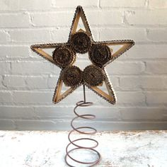 Curious Sofa - Corrugated Tree Topper - interesting twist on what to place on top of your tree Xmas Tree Toppers, Cardboard Tree, Christmas Ideas, Sofa, Drop Earrings, Stars, Paper, Settee, Drop Earring