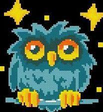 Owl  Cross stitch pattern pdf format by sunshinehomedecor on Etsy, $6.00