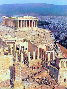 Acropolis, Athens is epic and gigantic!  It marks the centre of athens!  By lelli!