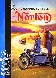 Norton motorcycle ad    Would love an MC with sidecar