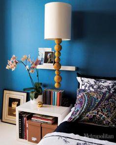 blue bedroom wall photo