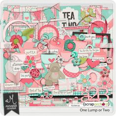 One Lump or Two digital scrapbook kit is an adorable kit designed especially for preserving those precious tea party photos!  Whether your little darling is serving tea, water or lemonade she will love this kit!