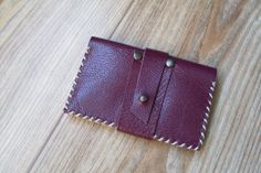 Handmade Leather Pocket Card Wallet Card Case by MrIstanbul, $14.00
