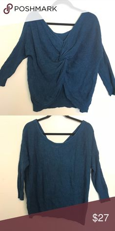 4598a4402640 Express Twist Back Sweater Express Twist Back Sweater Gorgeous Express  Twist Back Sweater. Nice and