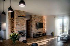 My Home Design, New Home Designs, House Design, Loft Interior Design, Industrial Interior Design, Home Living Room, Living Room Designs, Basement Family Rooms, Industrial Farmhouse Decor