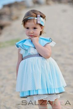 "Dress ""Azure"", Gentle airy sleeveless girl dress, made of light-blue cotton fabric by SALZARRA on Etsy"