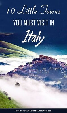 10 Little Towns You Must Visit in Italy #travel #budget #italytravel  #ItalyTrip