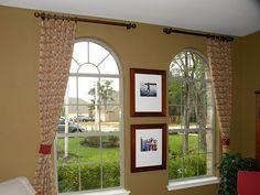 Arched window treatment idea