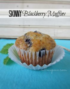 I vote for less muffin top and more Skinny Blackberry Muffins :) made with Greek-style yogurt!