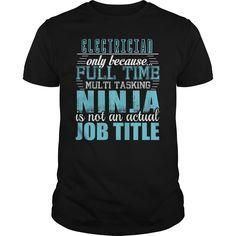 ELECTRICIAN Ninja T-shirt - ELECTRICIAN (Electrician Tshirts)