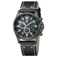Atacama Field Chronograph Alarm 1940 Series - 45mm Watch - Black Leather Strap