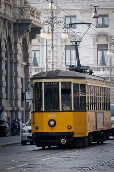 Inspirations - birdcagewalk: confinedlight:Streetcar, Milan,...