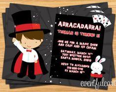 Show de magia cumpleaños invitación fiesta por eventfulcards