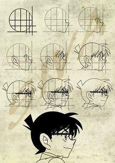 How to draw Conan Edogawa