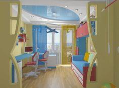 Проект детской комнаты длядвух мальчиков (6 и14 лет)