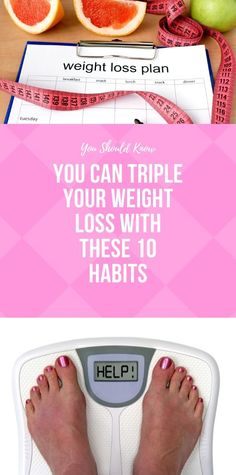 You Can Triple Your Weight Loss With These 10 Habits Weight Gain, How To Lose Weight Fast, Weight Loss, Health And Fitness Articles, Health And Nutrition, Fitness Tips, 30 Day Plank Challenge, Gym Workout Tips, Month Workout