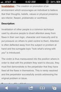 Emotional abuse through invalidation