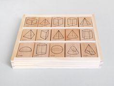 Polyhedra Rubber Stamp Set