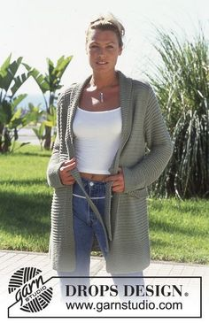 Free knitting patterns and crochet patterns by DROPS Design Diy Crochet And Knitting, Crochet Cardigan Pattern, Crochet Woman, Knitting Patterns Free, Knit Patterns, Crochet Clothes, Free Knitting, Free Pattern, Drops Design