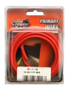 22 AWG Red Hook Up Lead Wire Stranded 25 ft UL1015 600V AWM MTW TEW