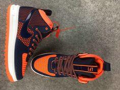 official photos b5536 0db5e 2017 Nike Lunar Force 1 Duckboot High tops Men Sneakers dark blue orange  Nike Air Force