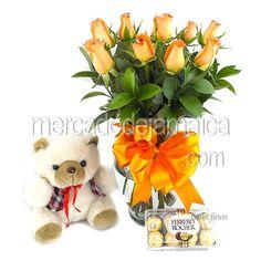 Arreglo Floral con Rosas en Combo