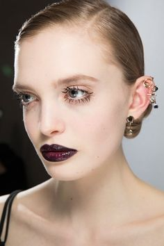 Christian Dior 2016. Dark lips.